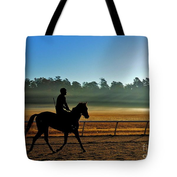 Horse Training At The Winter Colony Tote Bag