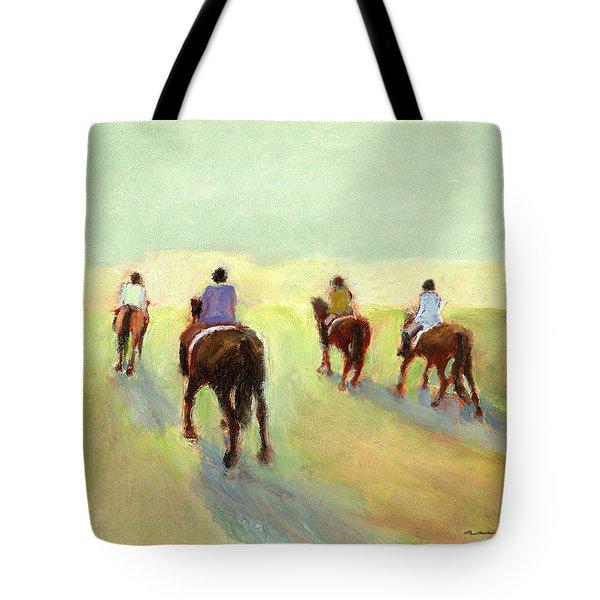 Horseback Riders Tote Bag