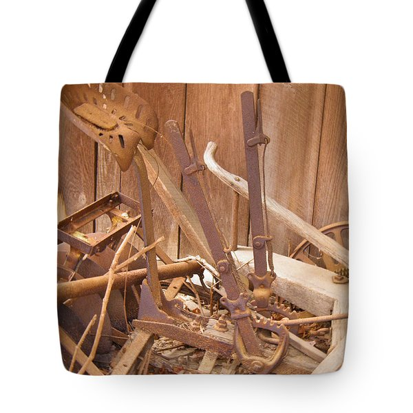 Tote Bag featuring the photograph Horsedrawn Disc by Nick Kirby