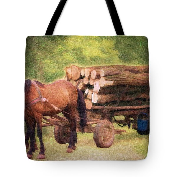 Horsepower Tote Bag by Jeff Kolker