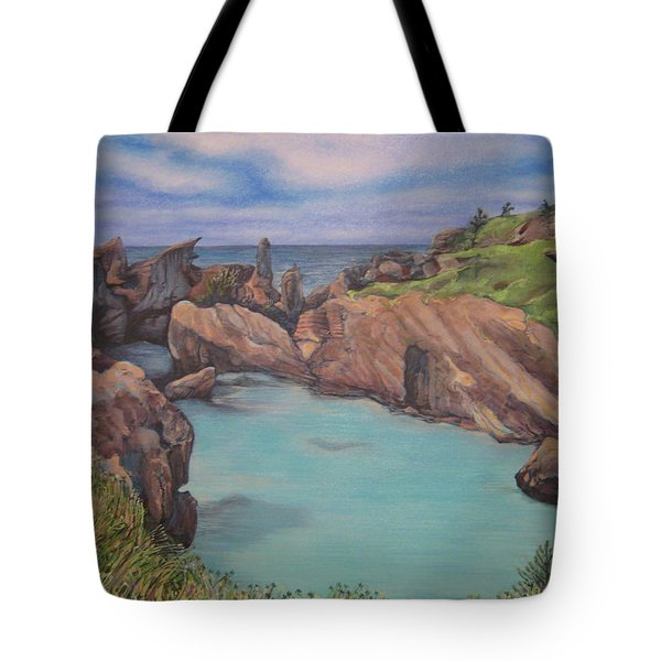 Horseshoe Bay Beach Bermuda Tote Bag