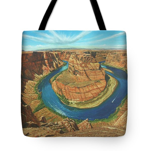 Horseshoe Bend Colorado River Arizona Tote Bag by Richard Harpum