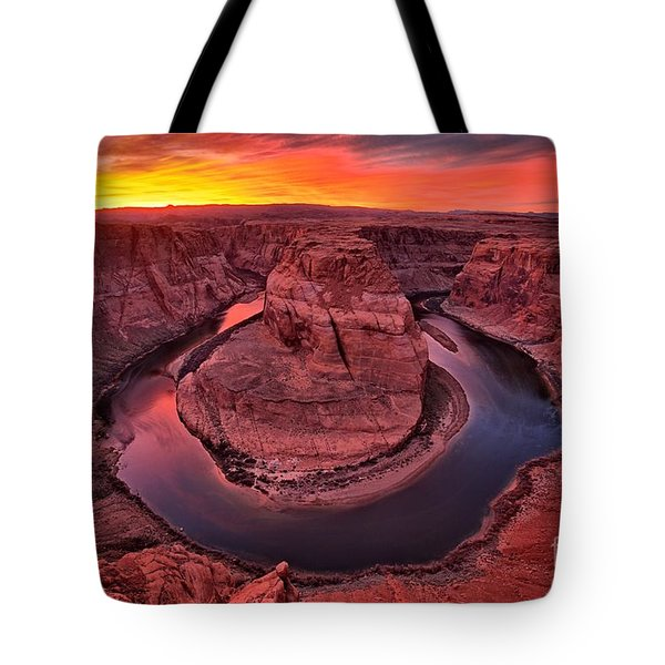 Horseshoe Bend Sunset Tote Bag