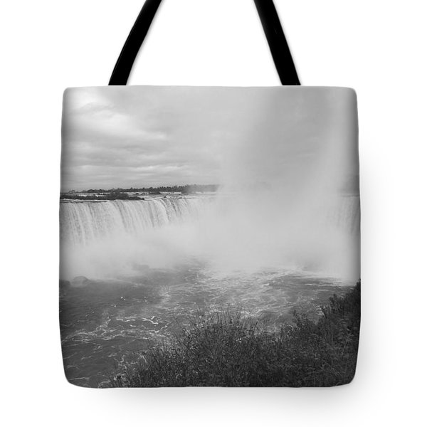 Horseshoe Falls - Autumn - B N W Tote Bag
