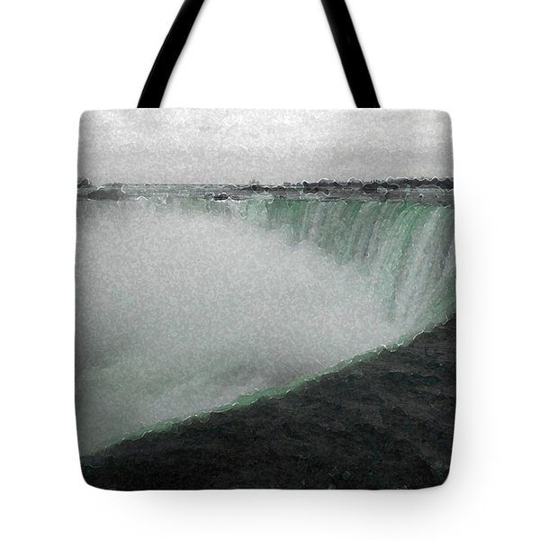 Horseshoe Falls In Winter Tote Bag