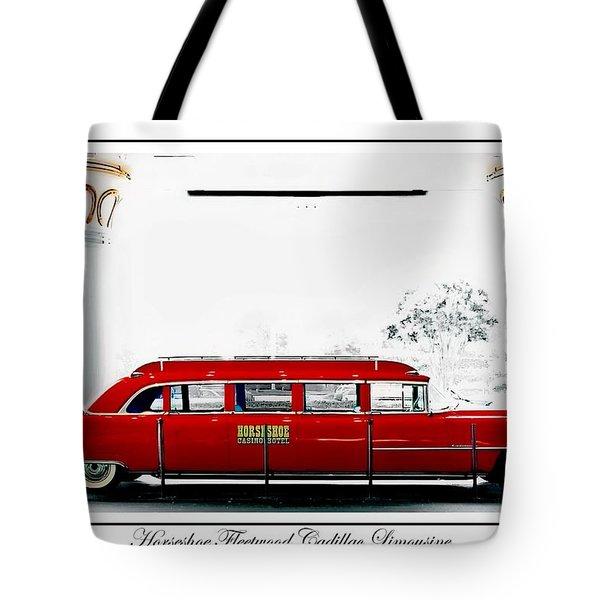 Horseshoe Fleetwood Cadillac Limousine Tote Bag