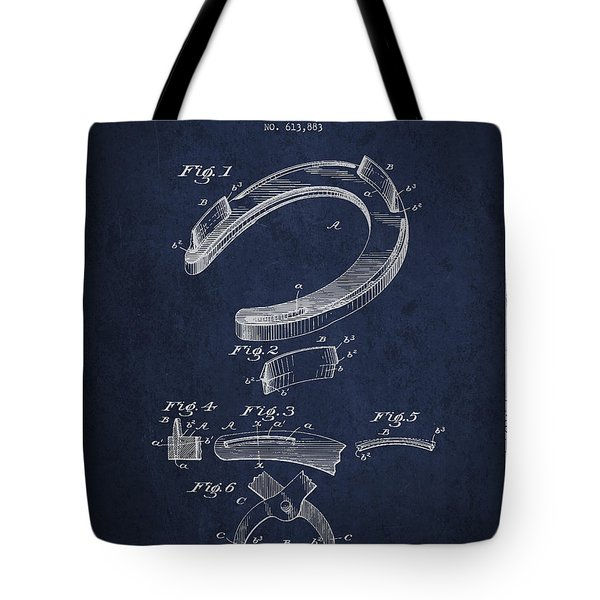 Horseshoe Patent Drawing From 1898 Tote Bag by Aged Pixel