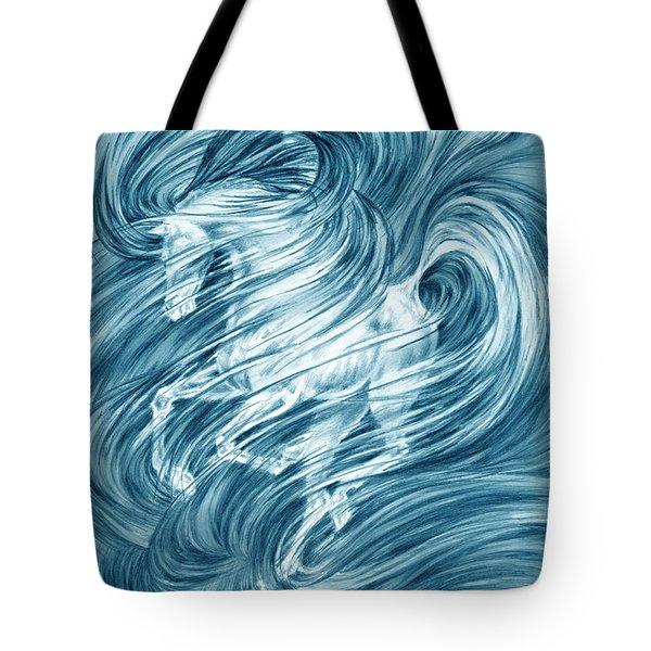 Horsessence - Colorized Fantasy Dream Horse Print Tote Bag