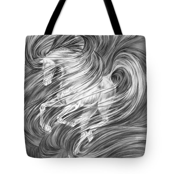 Horsessence - Fantasy Dream Horse Print Tote Bag by Kelli Swan