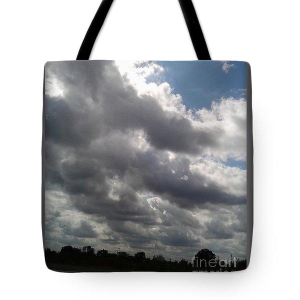 Horsetail Clouds Tote Bag