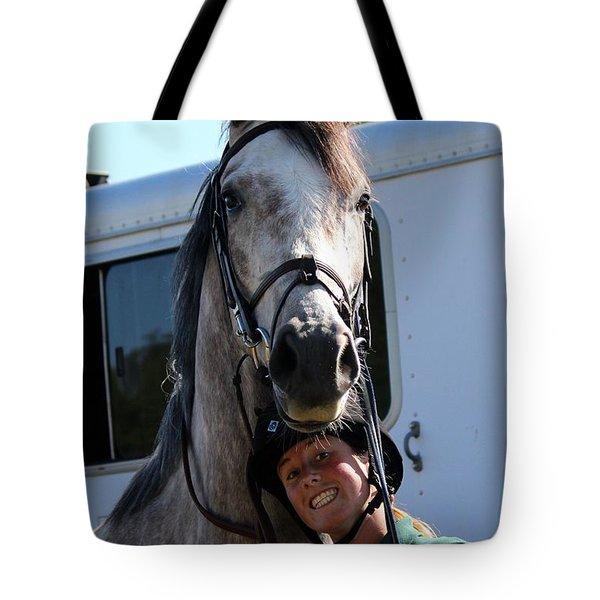 Horsin' Around Tote Bag
