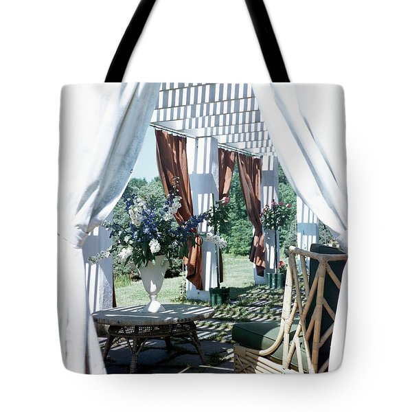 Horst's Patio In Long Island Tote Bag