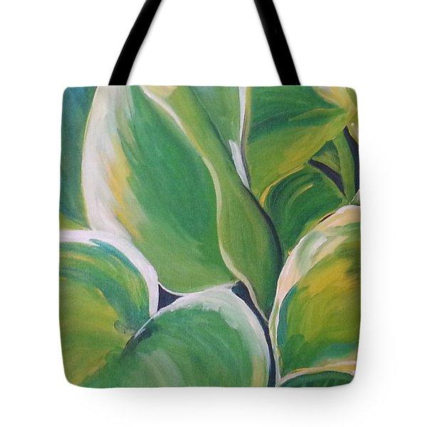 Hosta Garden Tote Bag
