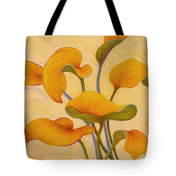 Tote Bag featuring the painting Hosta Hoofin' by Sandi Whetzel
