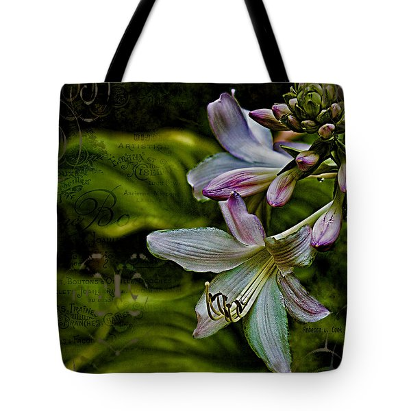 Hosta Lilies With Texture Tote Bag