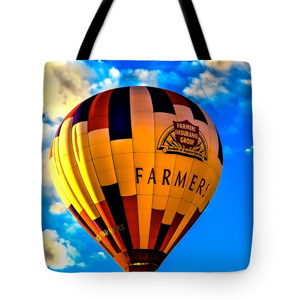 Hot Air Ballon Farmer's Insurance Tote Bag
