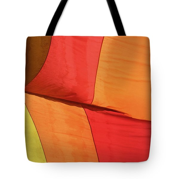 Tote Bag featuring the photograph Hot Air Balloon by Art Block Collections