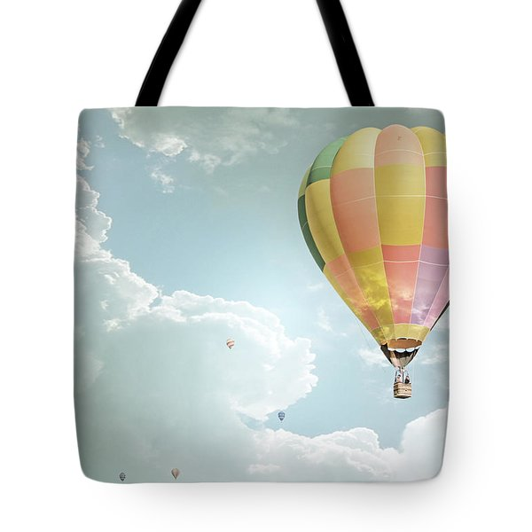 Hot Air Balloon Enchanted Clouds Tote Bag by Andrea Hazel Ihlefeld