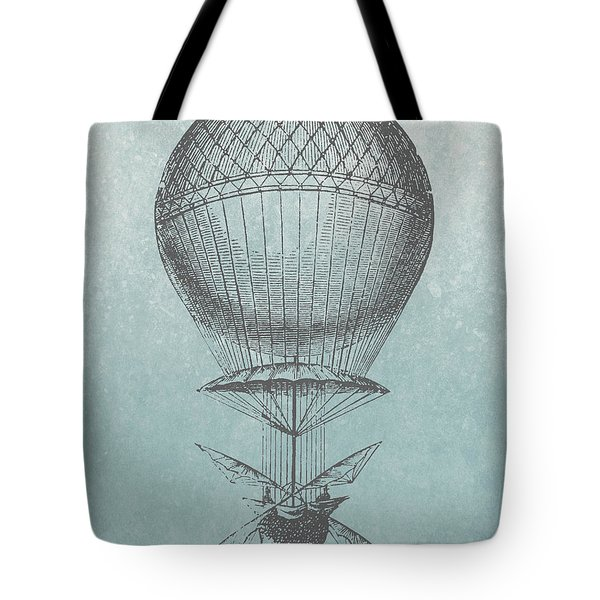 Hot-air Balloon - Retro Design Tote Bag