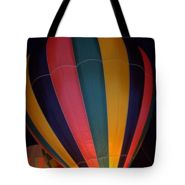 Hot Air Balloon Up Up Glow Tote Bag by Kathy Bassett