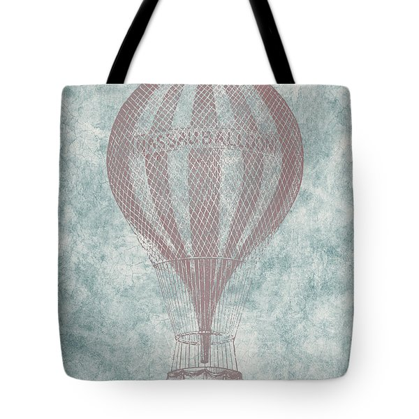 Hot Air Balloon - Vintage Drawing Tote Bag