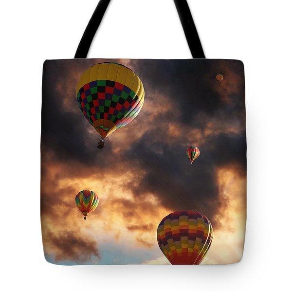 Hot Air Balloons - Chasing The Horizon Tote Bag