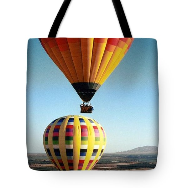 Balloon Stacking Tote Bag by Richard Engelbrecht