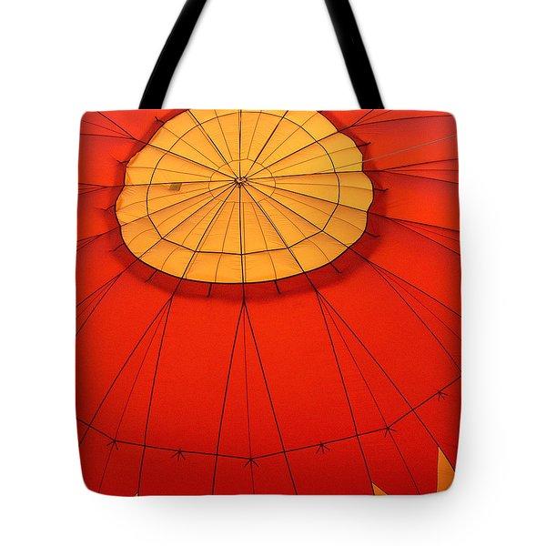 Hot Air Balloon At Dawn Tote Bag by Art Block Collections