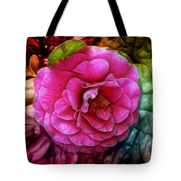 Hot And Silky Pink Rose Tote Bag by Lilia D