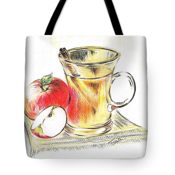 Hot Apple Cider Tote Bag