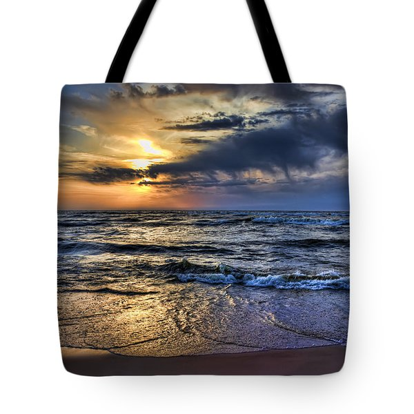 Hot April Sunset Saugatuck Michigan Tote Bag