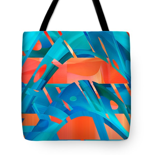 Hot Blue Tote Bag