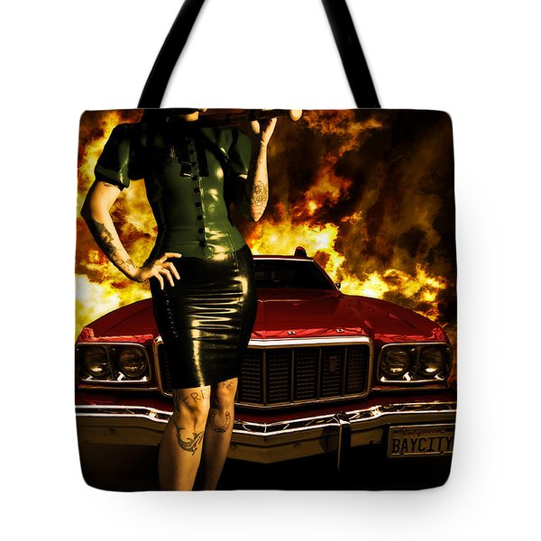 Hot Chick Tote Bag by Nathan Wright