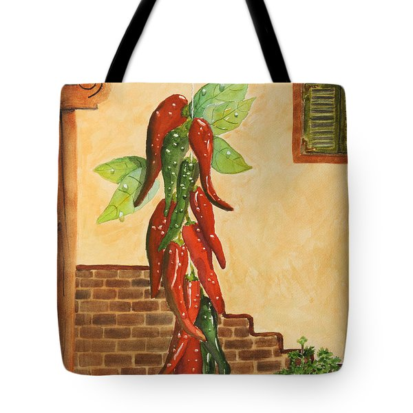 Hot Chili Peppers Tote Bag by Patricia Novack