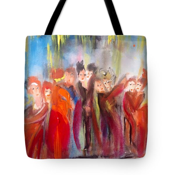 Hot Christmas Polka Tote Bag