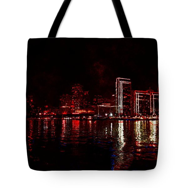 Hot City Night Tote Bag