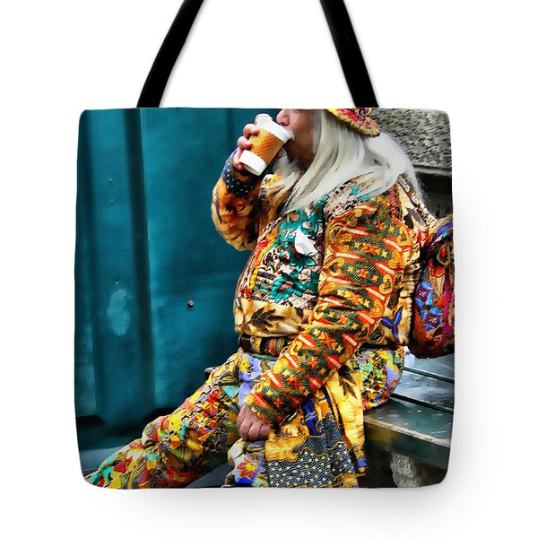 Hot Coffee And Haute Couture Tote Bag by Jeff Breiman