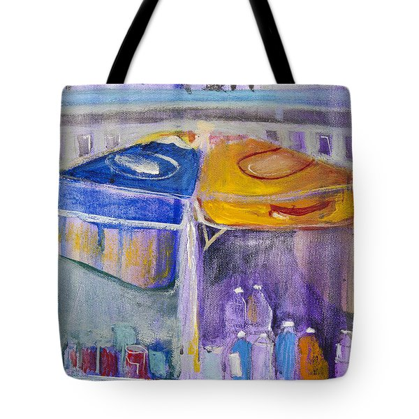 Hot Dogs  Tote Bag by Leela Payne