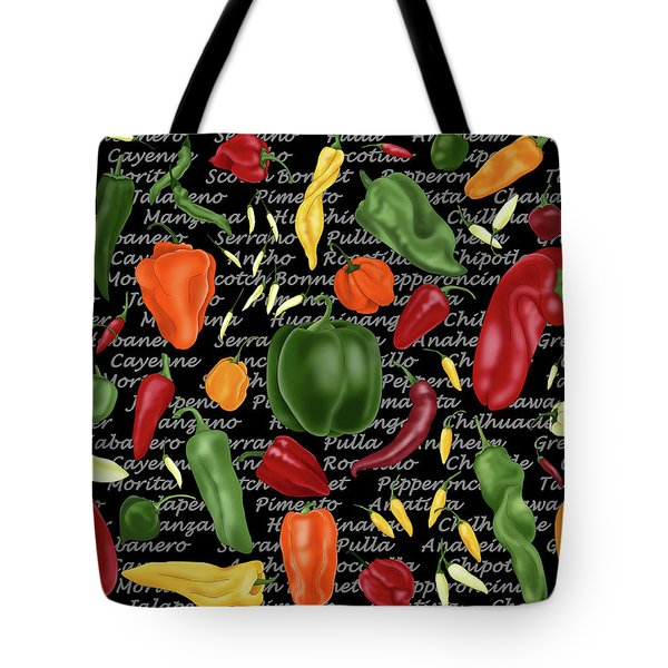 Hot For Chilis Tote Bag