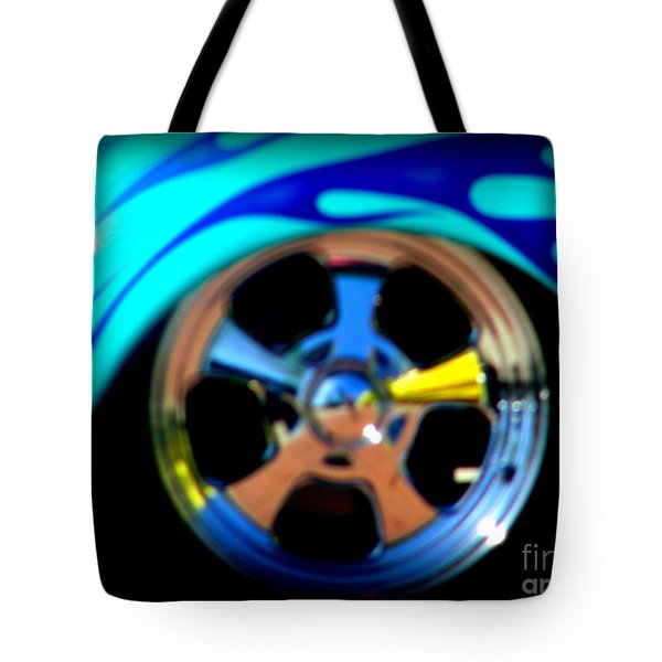 Tote Bag featuring the photograph Hot Hot Wheels  by Bobbee Rickard