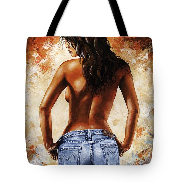 Hot Jeans 02 Blue Tote Bag