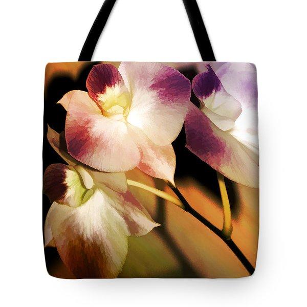 Hot Orchid Nights Tote Bag by Holly Kempe