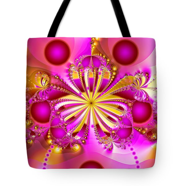 Hot Orchid Tote Bag by Sylvia Thornton