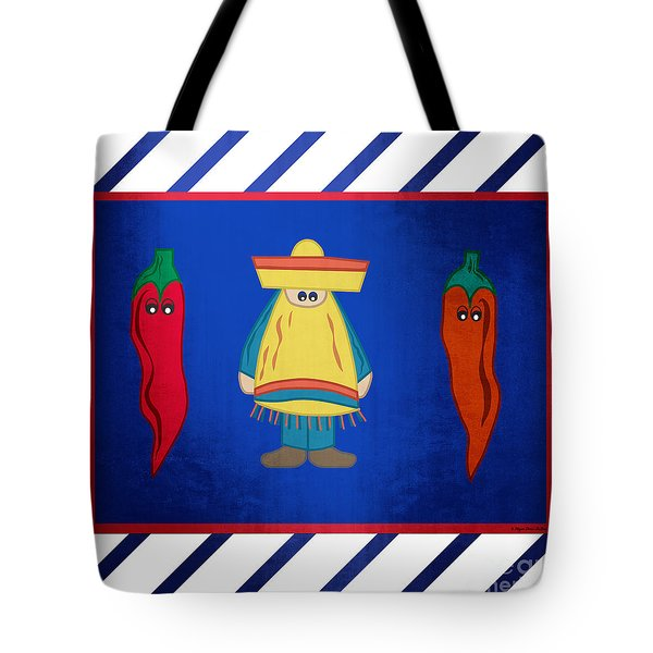Tote Bag featuring the digital art Hot Pepper by Megan Dirsa-DuBois
