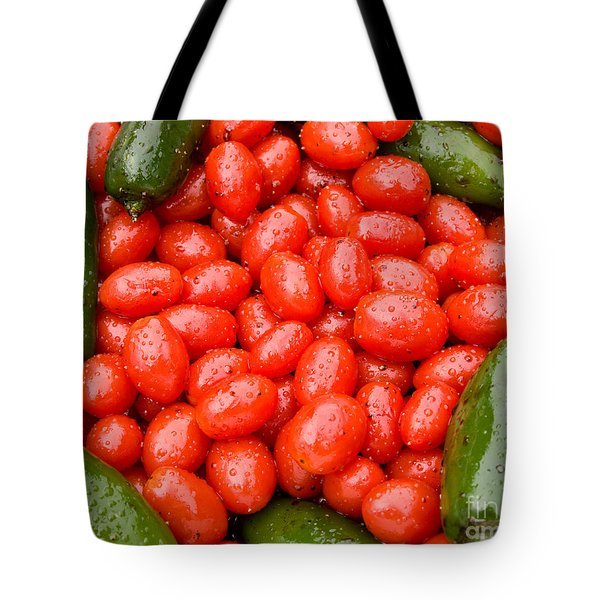 Hot Peppers And Cherry Tomatoes Tote Bag by James BO  Insogna
