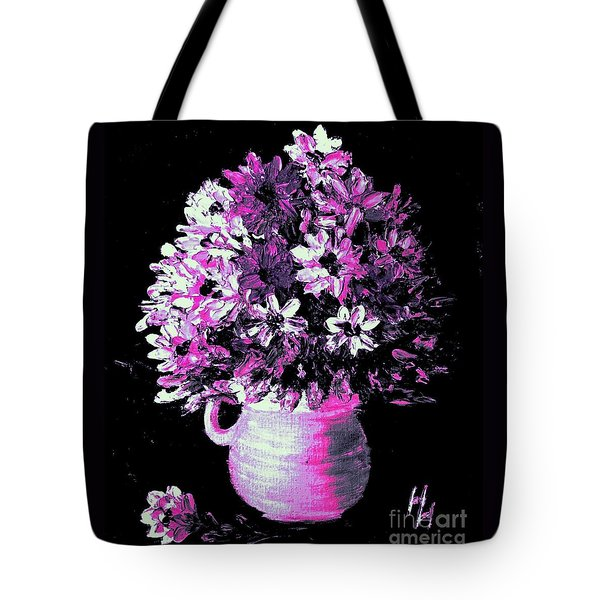 Hot Pink Flowers Tote Bag