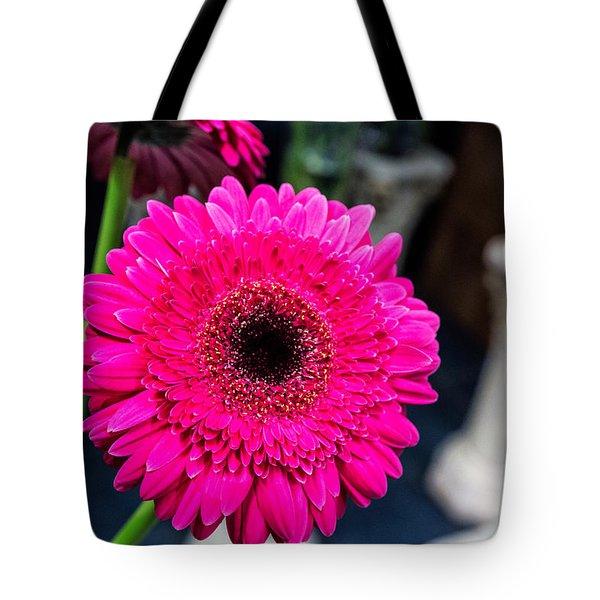 Hot Pink Gerber Daisy Tote Bag