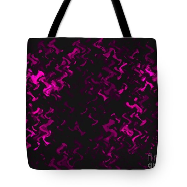 Hot Pink Ripples Tote Bag by Anita Lewis