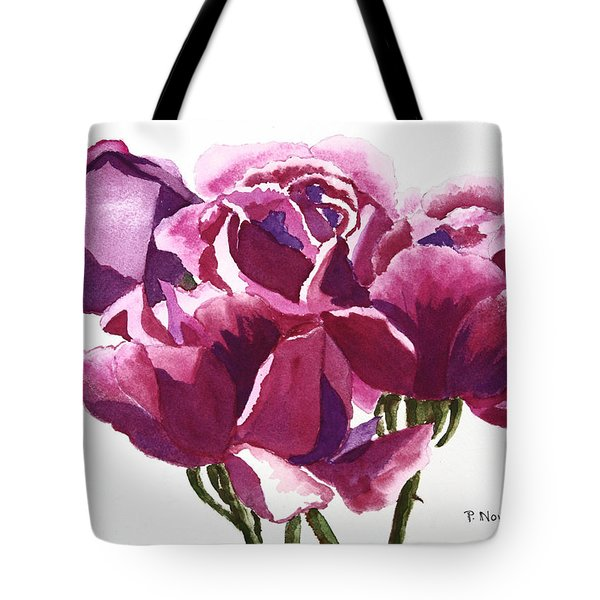 Hot Pink Roses Tote Bag by Patricia Novack