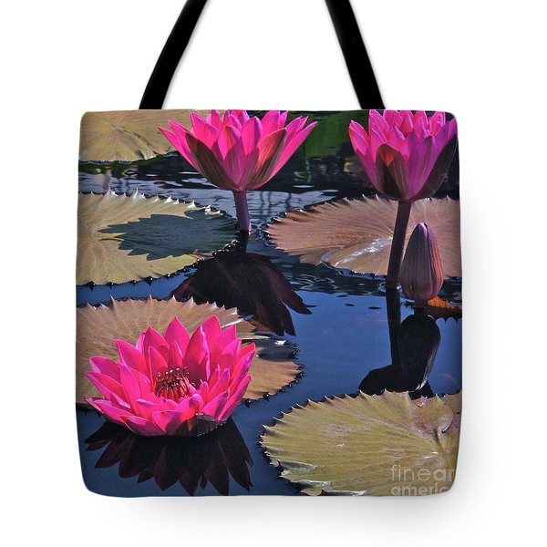 Hot Pink Tropicals Tote Bag